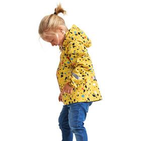 DIDRIKSONS Droppen Printed Jacket Kids pollen yellow terazzo